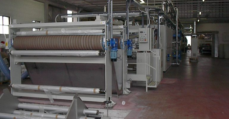 BACK COATING LINE EQUIPPED WITH 2 HEADS USEFUL WIDTH 2400 MM